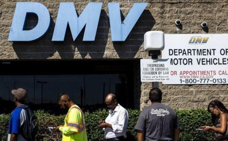 DMV services in California